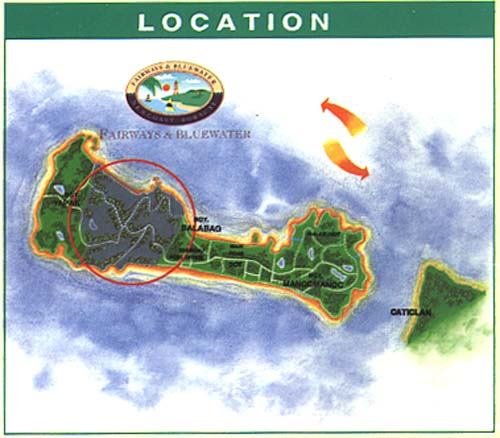 Spread across the center of the island, FAIRWAYS & BLUEWATER spans the